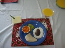 Um dos pratos...