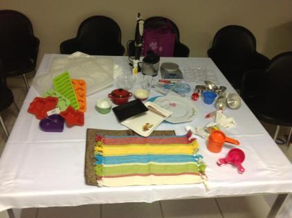 Demonstração utensílios